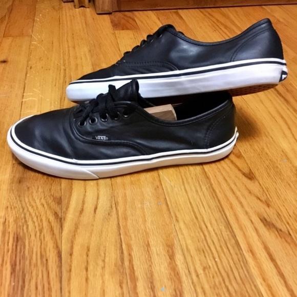 97c4ec344b18 Vans Shoes | Classic Tumble Era In Black Leather | Poshmark